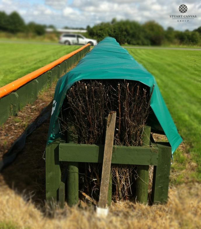 Racecourse fence cover
