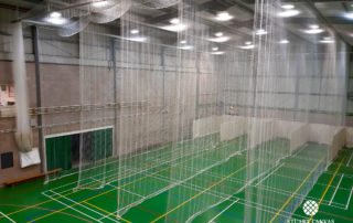 Epsom College Cricket Nets By Stuart Canvas Batting End